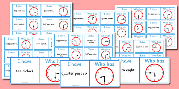 O'clock Loop Cards Differentiated Pack - o'clock, loop, cards, differentiated, pack