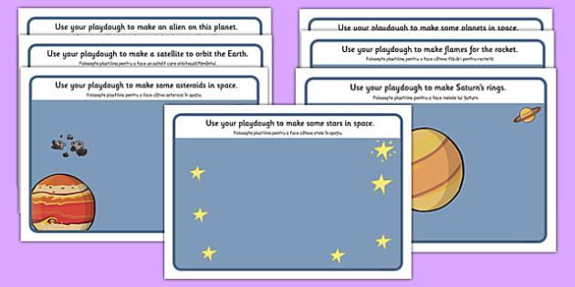 Space Playdough Mats Romanian Translation - romanian, space, playdough mats, playdough, mats