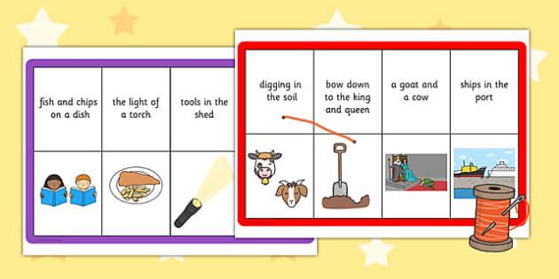 Phase 3 Captions Matching Threading Cards - phase 3, captions