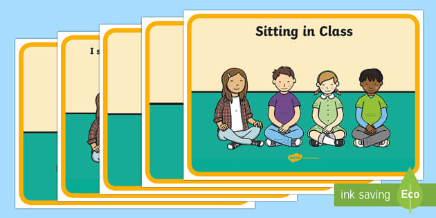Social Story (Sitting in Class) - Behaviour management, self-awareness, self-calming, Autism, PSHE, SEN, social situations, social skills, story, stories