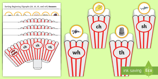 Consonant Digraphs: sh ch wh th - YouTube