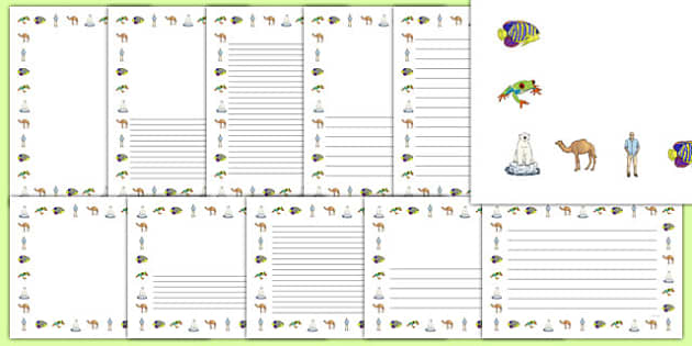 Biodiversity Page Borders - Biodiversity, Green schools, environment, display, writing templates, page borders, information, green flag, nature