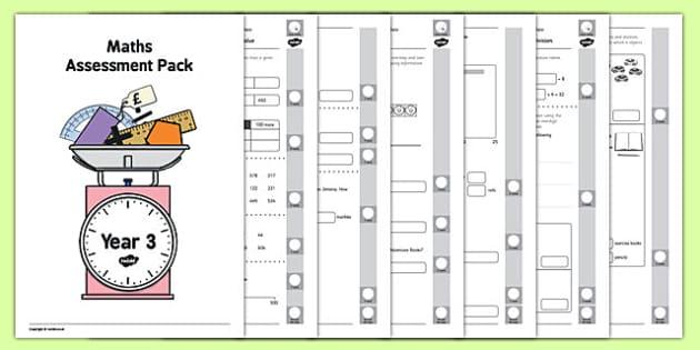 Year 3 Maths Assessment Pack Term 3 - year 3, maths, assessment, pack, term 3
