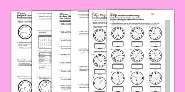 KS2 Reasoning Test Practice Measurement Time Polish Translation - polish, Key Stage 2, KS2, Reasoning, Test, Practice, Measurement, Time