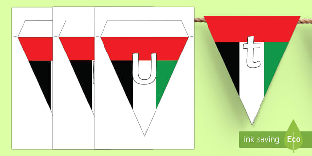 UAE Flag National Day Display Bunting