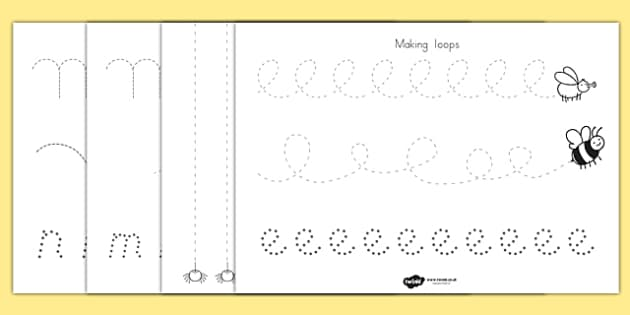 Minibeast Theme Pencil Control Worksheets - minibeast, control
