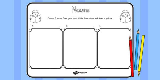 Nouns Comprehension Worksheet - australia, nouns, comprehension