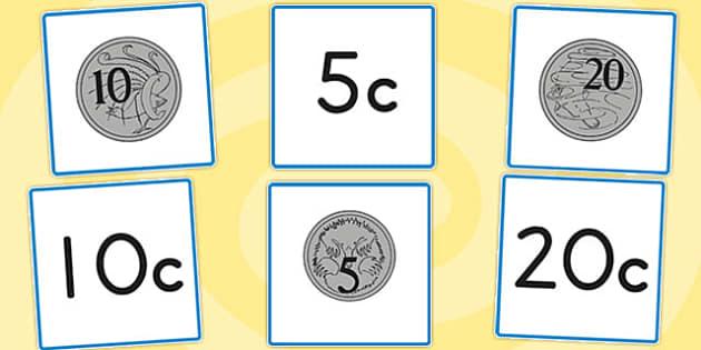 Australian Coin Flashcards - australia, coin, flashcards, cards