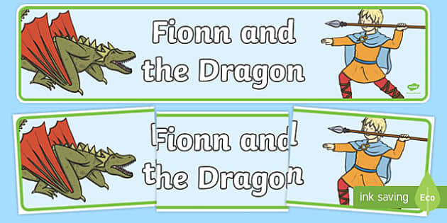 Fionn and the Dragon Display Banner - Irish history, Irish story, Irish myth, Irish legends, Fionn and the Dragon, display banner