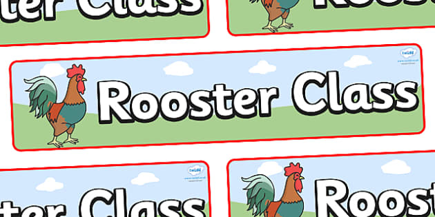 Rooster Themed Classroom Display Banner - Themed banner, banner, display banner, Classroom labels, Area labels, Poster, Display, Areas