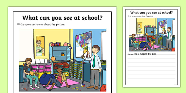 School Scene Writing Stimulus Picture Writing Stimulus Picture