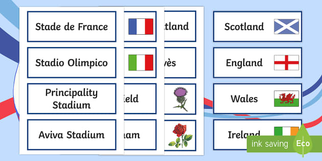 Six Nations Rugby Word Cards-Scottish - CfE, calendar events, Scotland, Scottish, traditions, history, celebrations, Six nations, rugby, 6 n