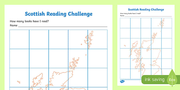 Scottish Reading Challenge Record Chart-Scottish