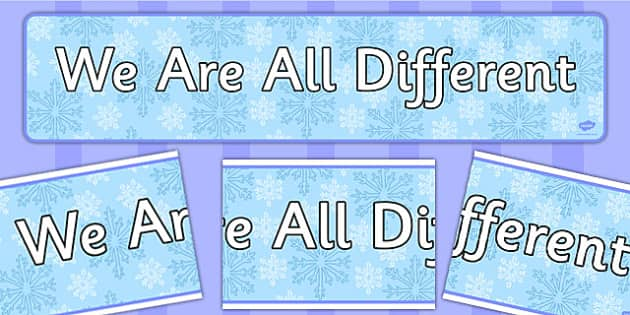 We Are All Different Snowflakes Display Banner - display, banner