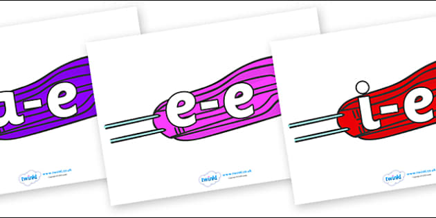 Modifying E Letters on Sledges - Modifying E, letters, modify, Phase 5, Phase five, alternative spellings for phonemes, DfES letters and Sounds