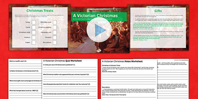 A Christmas Carol Lesson Pack 8: A Victorian Christmas (post reading) - a victorian christmas, lesson pack, lesson, pack