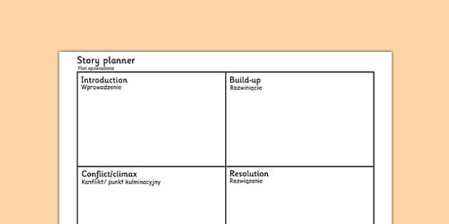 Simple Story Planning Frame Polish Translation - polish, simple, story, planning, frame