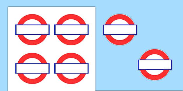 Underground Sign Self-Registration Labels - self-reg, attendance, in school, recording, ks1, morning, afternoon
