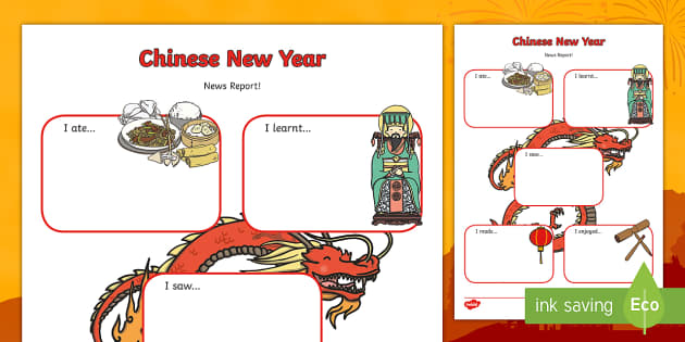 Chinese New Year Event Writing Report - chinese new year, writing