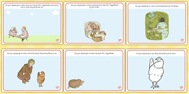 The Tale of Mrs Tiggy Winkle Playdough Mats - mrs tiggy winkle