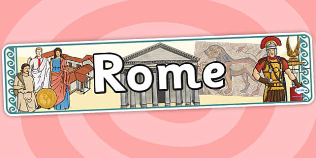 Rome Display Banner - rome, roman, display banner, banner