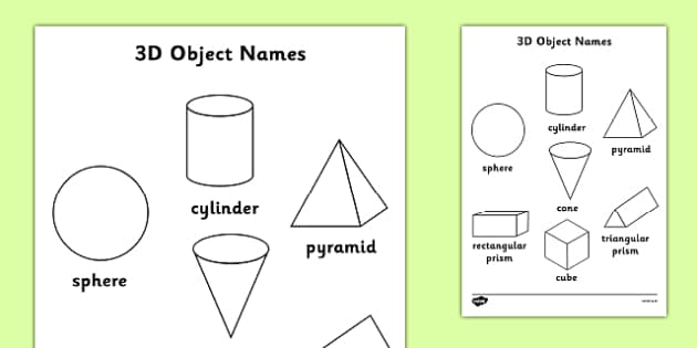 3D Object Words Colouring Sheet Australia  - 3D, 3, dimension, properties, shape, shapes, faces, edges, cube, cuboid, sphere, sylinder, compare, maths