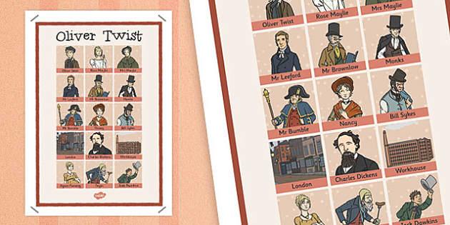 Oliver Twist Word Grid - oliver twist, word grid, grid, words