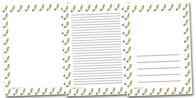 Scuba Diver Portrait Page Borders- Portrait Page Borders - Page border, border, writing template, writing aid, writing frame, a4 border, template, templates, landscape