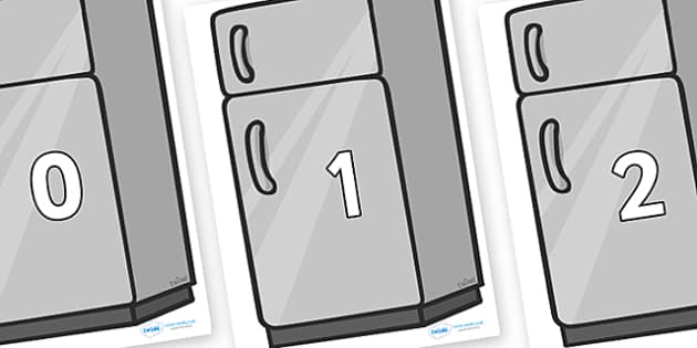 Numbers 0-31 on Fridges - 0-31, foundation stage numeracy, Number recognition, Number flashcards, counting, number frieze, Display numbers, number posters