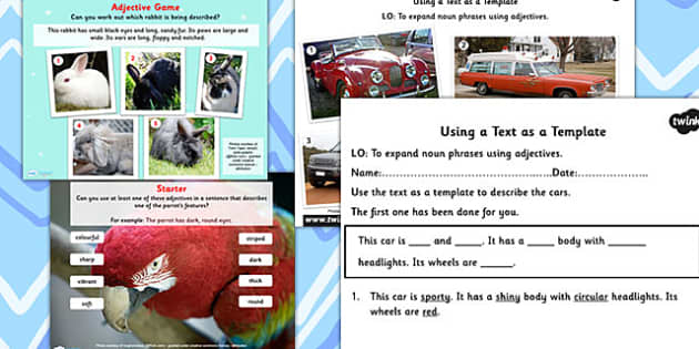 Using Texts as a Template Lesson Teaching Pack - texts, template
