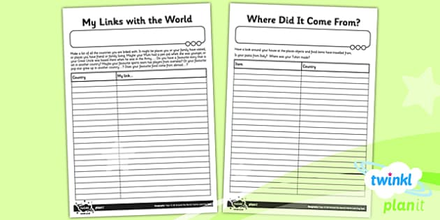 PlanIt - Geography Year 4 - All Around the World Unit Home Learning Tasks