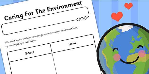 Caring For The Environment Worksheet - environment, worksheet