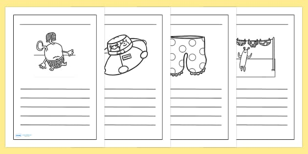 Writing Frames to Support Teaching on Aliens Love Underpants - aliens love underpants, writing frames, writing aid, writing guides, line guides, writing, themed writing frames