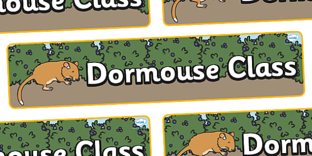 Dormouse Themed Classroom Display Banner - Themed banner, banner, display banner, Classroom labels, Area labels, Poster, Display, Areas