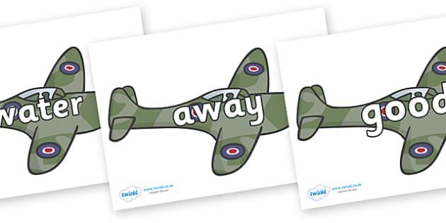 Next 200 Common Words on Planes - Next 200 Common Words on  - DfES Letters and Sounds, Letters and Sounds, Letters and sounds words, Common words, 200 common words