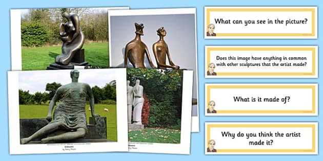 Photo Pack and Prompt Questions Henry Moore - henry moore, pack