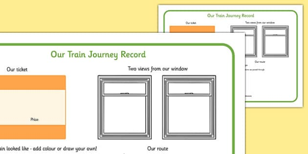 Our Train Journey Record - our, train journey, record, train, journey