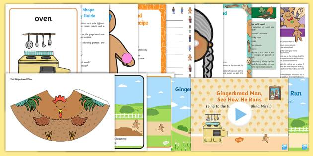 Childminder The Gingerbread Man EYFS Resource Pack - The Gingerbread Man, Traditional Tales, ginger, child minder, childminding,