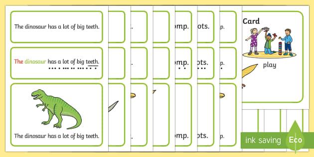 Dinosaurs Simple Sentence Cards