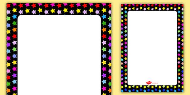 Multicoloured Star Themed Editable Display Poster - display, poster, star, editable