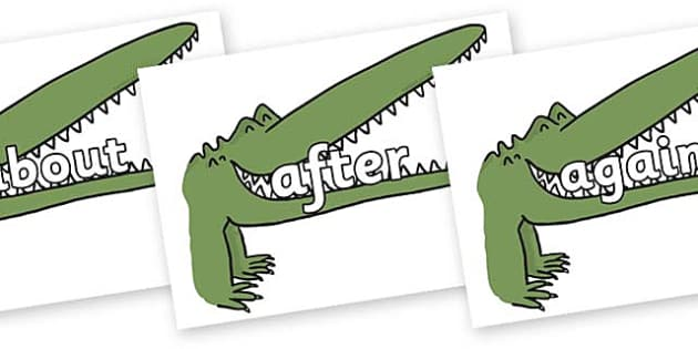 KS1 Keywords on Enormous Crocodile to Support Teaching on The Enormous Crocodile - KS1, CLL, Communication language and literacy, Display, Key words, high frequency words, foundation stage literacy, DfES Letters and Sounds, Letters and Sounds, spelli
