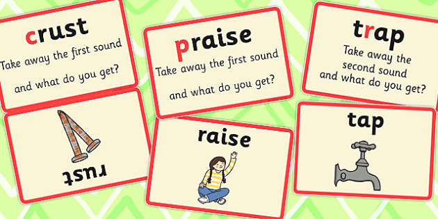 Splitting Blends Matching Cards (Set 2) - split, words, literacy, visual