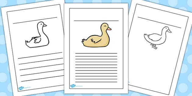 Ugly Duckling Writing Frames - writing, frames, ugly duckling
