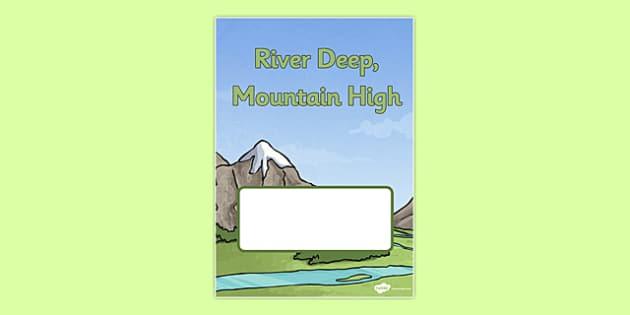Mountain High, River Deep Book Cover - mountain high, river deep, book cover, book, cover