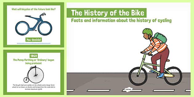 The History of the Bike PowerPoint - bike week, powerpoint, childminder, bike