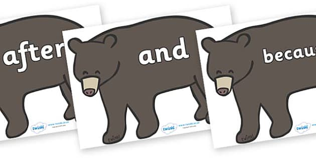 Connectives on Grizzly Bears - Connectives, VCOP, connective resources, connectives display words, connective displays
