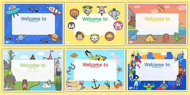 Editable Welcome Signs German/English