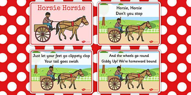 Horsie Horsie Sequencing Cards - horsie horsie, sequencing, cards