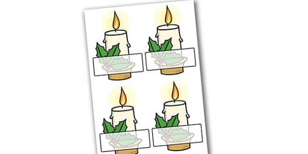 Christmas Editable Self Registration Candles - christmas, xmas, self registration, christmas candles, editable candles, self registration candles, self-registration, editable, editable labels, editable self registration labels, labels, registration,