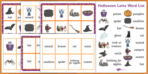 Halloween Lotto Game - halloween, lotto, game, pack, activity